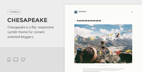 Chesapeake - A Flat, Media-Friendly Tumblr Theme