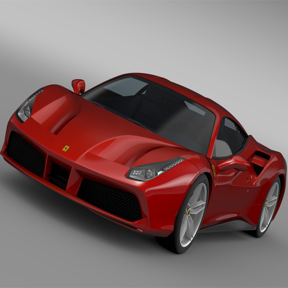 Ferrari GTB 488 2015 - 3DOcean Item for Sale