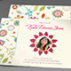 Floral Dreams Funeral Thank You Card - GraphicRiver Item for Sale