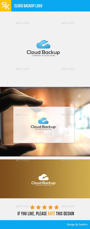 Cloud Backup Service - Symbols Logo Templates