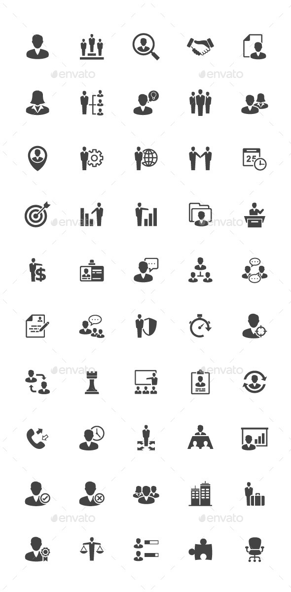 50 Management and Human Resource Icon - Business Icons
