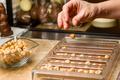 Ingredients for preparation of artisanal chocolate bar