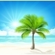 Tropical Beach. Vector - GraphicRiver Item for Sale