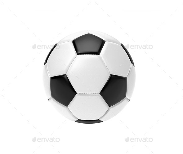 Isolated Football - Objects 3D Renders