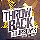 Throwback Thursdays Flyer - GraphicRiver Item for Sale