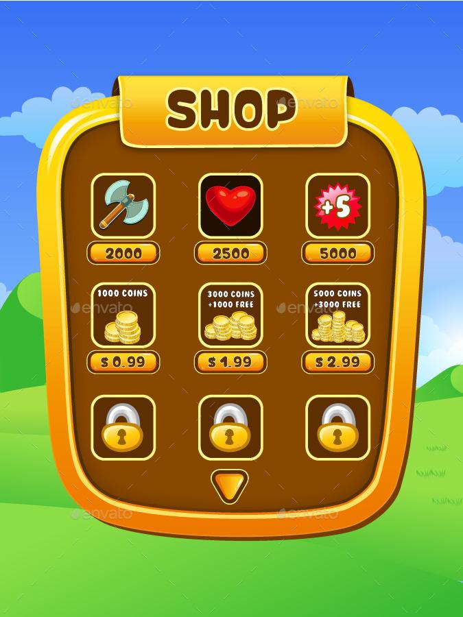 Mobile Game UI Kit 10