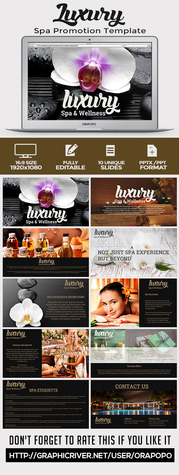 Luxury Spa Promotion Template