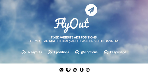 FlyOut - Fixed and Sticky Website Banner Positions