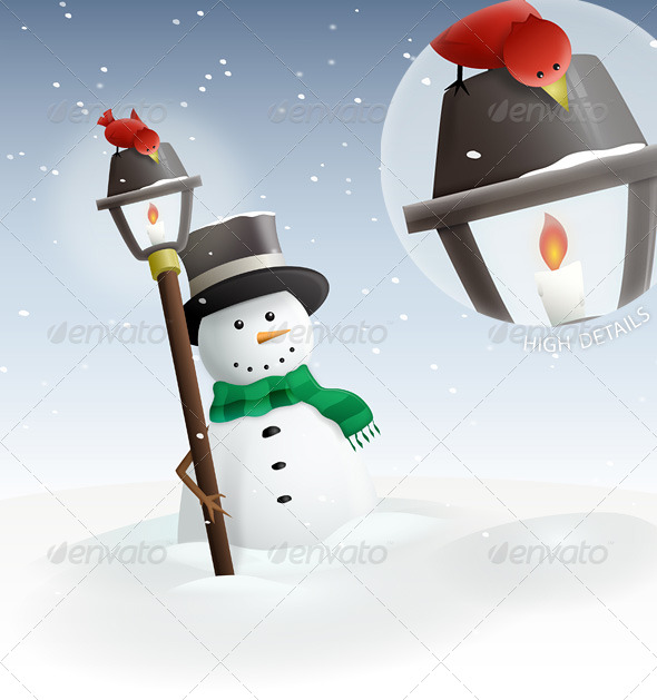 Winter Land : Snowman - Seasons/Holidays Conceptual