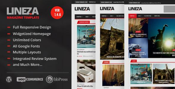 Lineza – Modern Responsive Magazine Theme