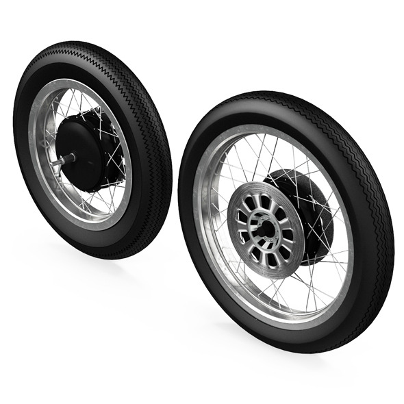 Motorcycle Wheels - 3DOcean Item for Sale