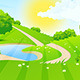 Green Landscape with Road - GraphicRiver Item for Sale