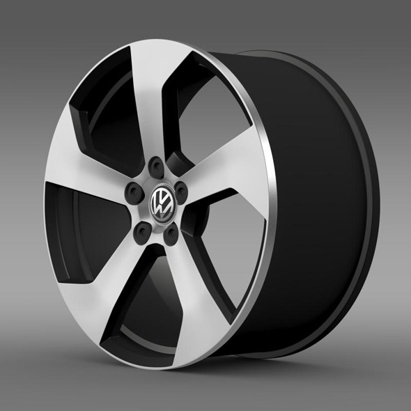 Volkswagen Golf GTI rim - 3DOcean Item for Sale
