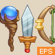 Cartoon Fantasy Weapons - GraphicRiver Item for Sale