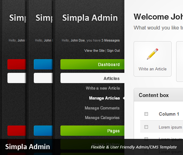 Free Download Simpla Admin - Flexible & User Friendly Admin skin Nulled Latest Version