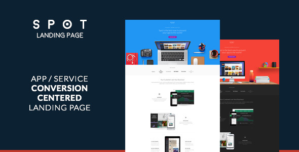 SPOT - App / Service Landing Page - Landing Pages Marketing