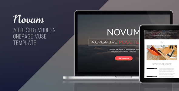 Novum – One Page Muse Template