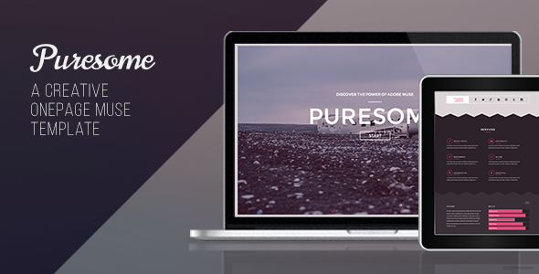 Puresome – One Page Muse Template