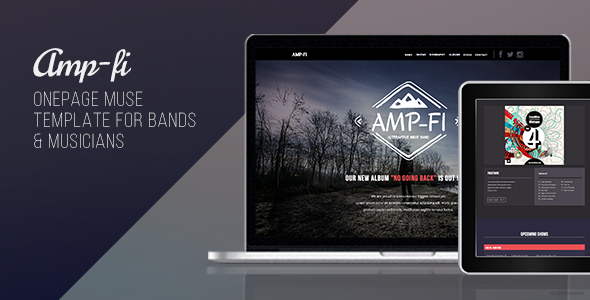 Amp-Fi – OnePage Music Band Muse Template