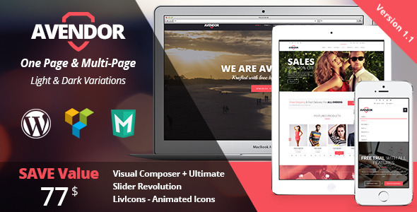 AVENDOR – WordPress Responsive Multi-purpose Theme