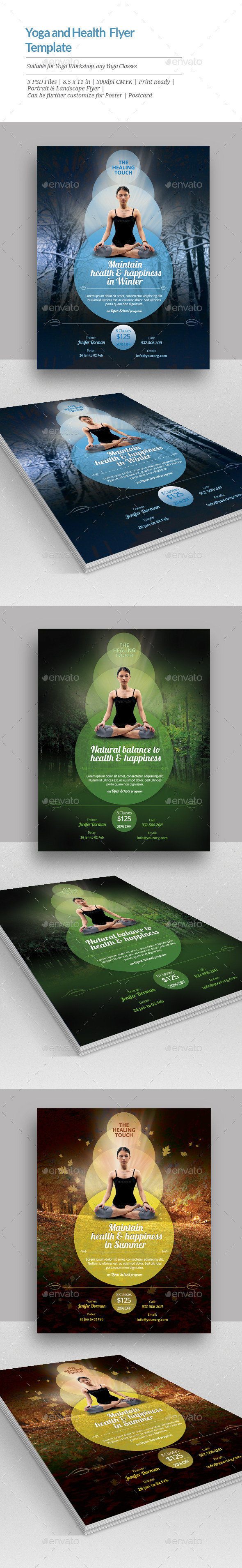 Yoga And Health Flyer Templates By Geon Graphicriver