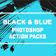 Black and Blue Photoshop Action - GraphicRiver Item for Sale