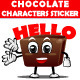 Chocolate Characters Sticker - GraphicRiver Item for Sale