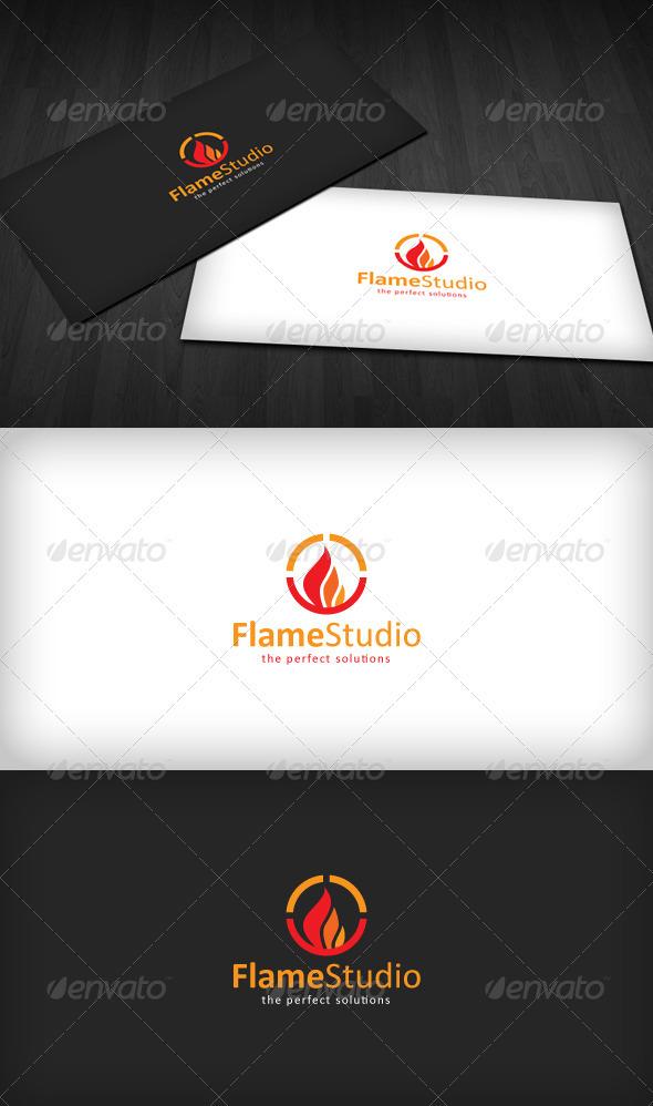Flame Studio Logo - Symbols Logo Templates