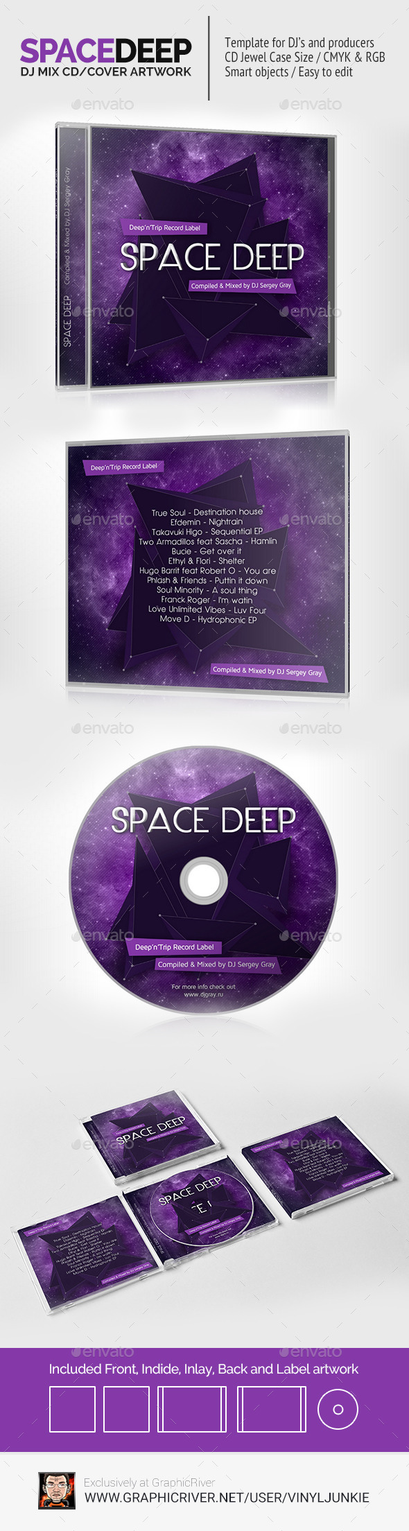 DJ Mix CD Cover Artwork Template