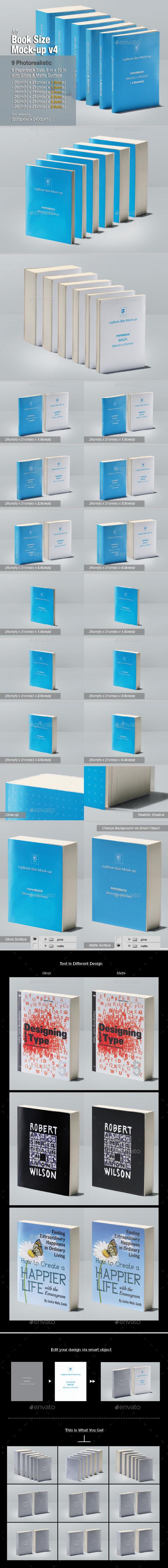 myBook Size Mock-up v4 - Books Print