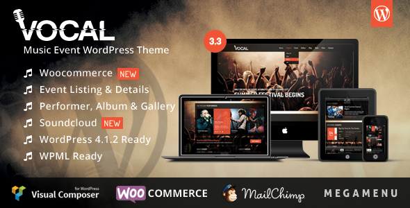 Vocal – Music Event WordPress Theme