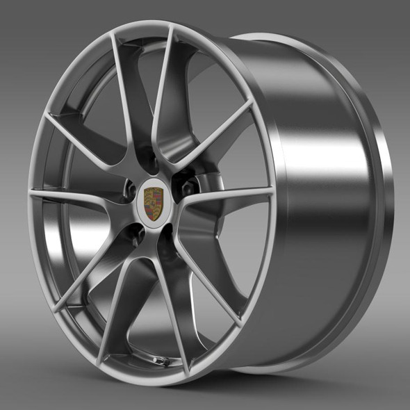 Porsche 911 Carerra 4 rim - 3DOcean Item for Sale