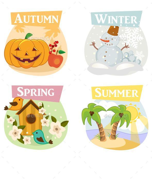 Four Seasons Illustrations  - Seasons/Holidays Conceptual