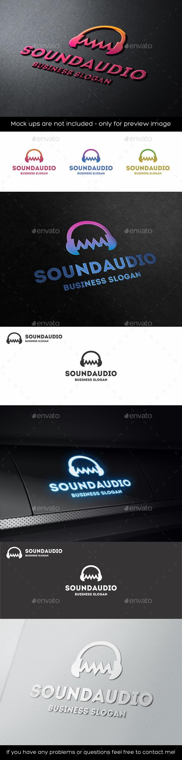 Audio Wave Sound Headphones Logo - Symbols Logo Templates