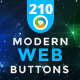 Modern Web Buttons - 200+ Buttons - GraphicRiver Item for Sale