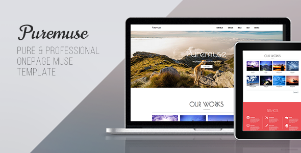 Puremuse – One Page Muse Template