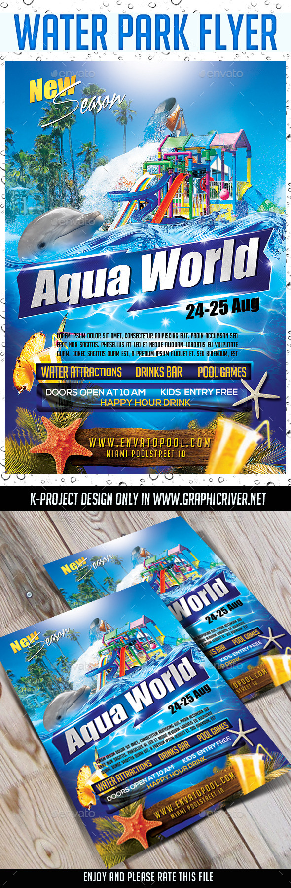 Water Park Flyer - Events Flyers - Water Park Flyer By K-project GraphicRiver