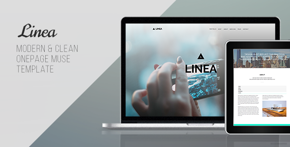 Linea – One Page Muse Template