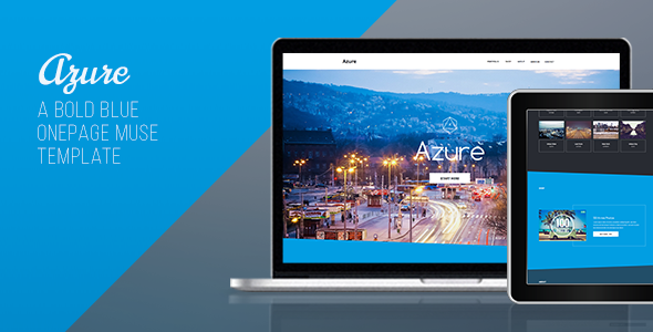 Azure – One Page Muse Template