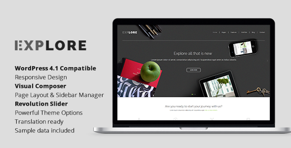 Explore – Responsive Business WordPress Theme