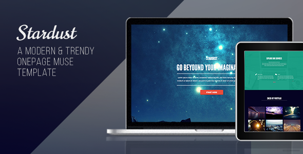Stardust – One Page Muse Template