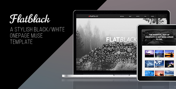 Flatblack – One Page Muse Template