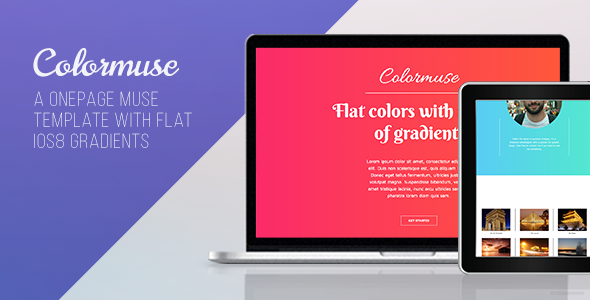 Colormuse – One Page Portfolio Muse Template