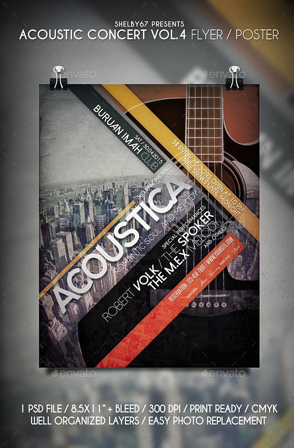 Acoustic Concert Flyer Vol.4 - Events Flyers