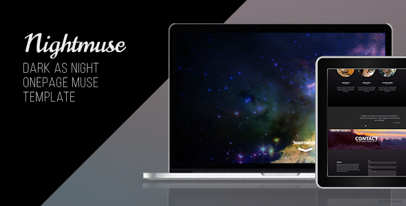 Nightmuse – One Page Portfolio Muse Template