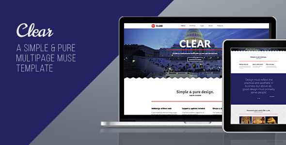 Clear – Multipurpose Muse Template