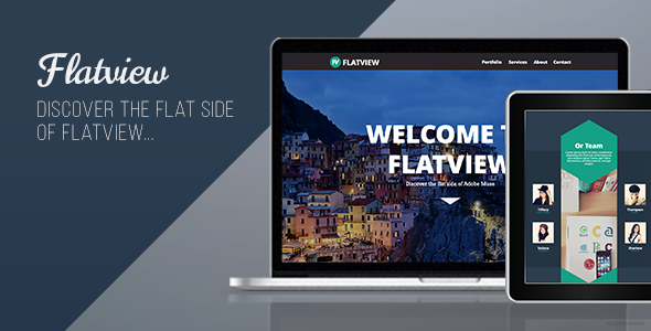 Flatview – One Page Muse Template