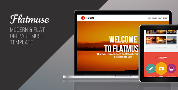 Flatmuse - One Page Muse Template - Creative Muse Templates