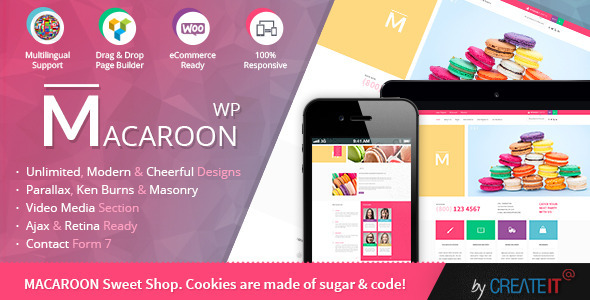 Macaroon Sweet Shop - Colorful WooCommerce Theme