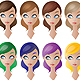 Dolls / Women / Girls / Models Hair Colours - GraphicRiver Item for Sale
